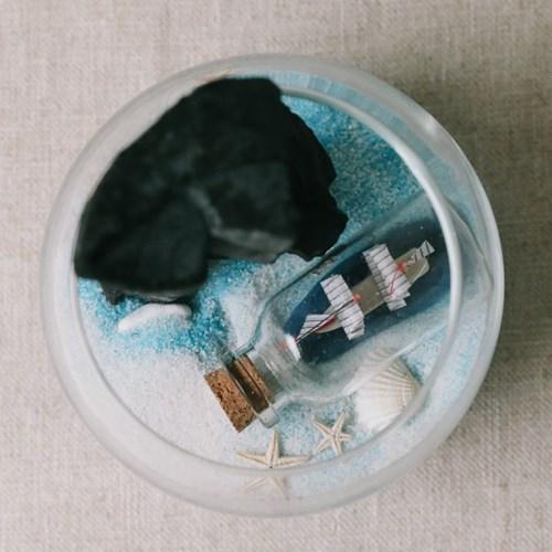 바다별빛 한가득 어항 숯 화분 DIY세트-공기정화 습도조_(100703286)