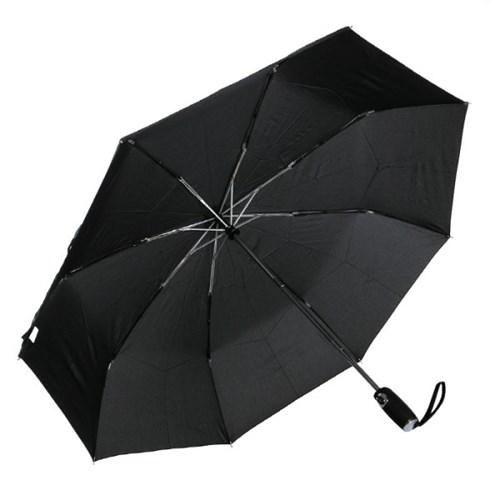 [rain s.] 프리미엄 가죽 핸들 3단 자동 우양산 - R799_black