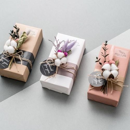 목화빼빼로2개 기프트3종세트_핑크(빼빼로기프트+쇼핑백+카드)