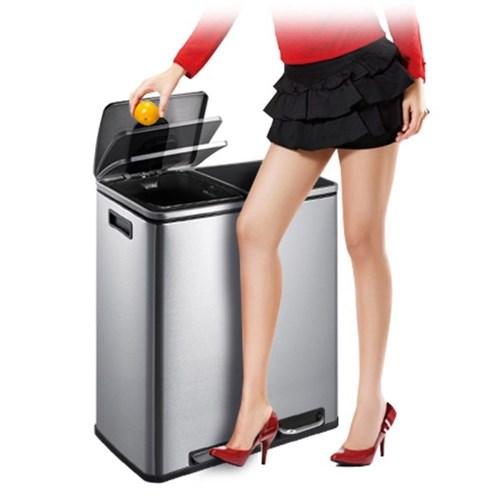 가정용 재활용 페달 분리수거함 휴지통 30L 쓰레기통