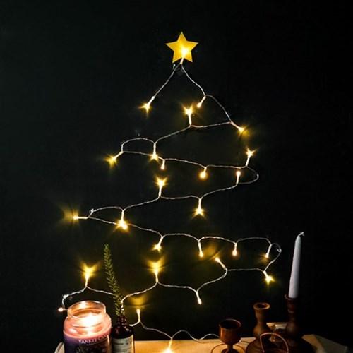 크리스마스 라이트 벽트리 세트