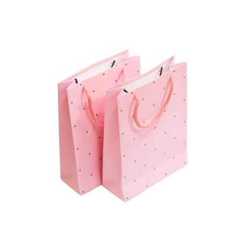 선물용 핑크 땡땡이 종이가방_(1055652)