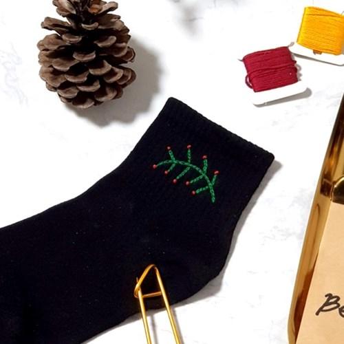 플라워 라운드 꽃 여자 발목 패션 양말 프랑스자수 패키지 도안 DIY