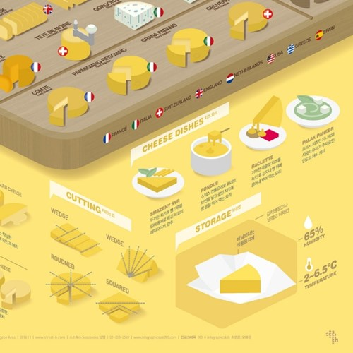 인포그래픽 포스터 - 치즈