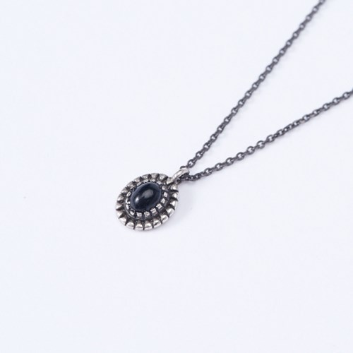 [925실버] 블랙 엔틱 목걸이