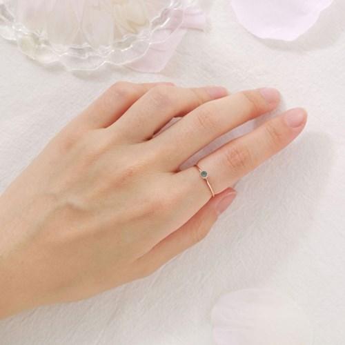 심플 민트 큐빅 반지