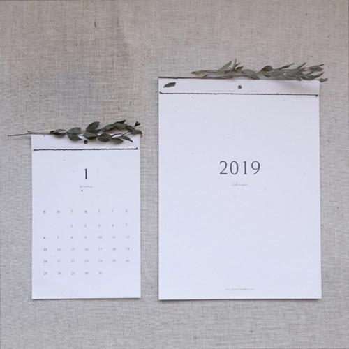 2019 재생지 달력