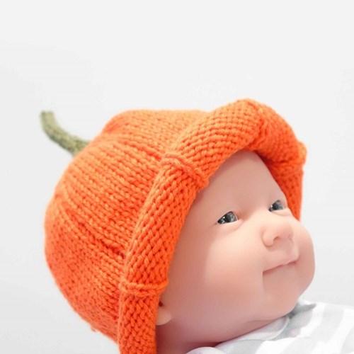 니팅키트- 아기 호박모자