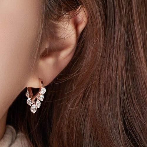 [러브썸쥬얼리] 14K 카니발 귀걸이 (핑크골드)