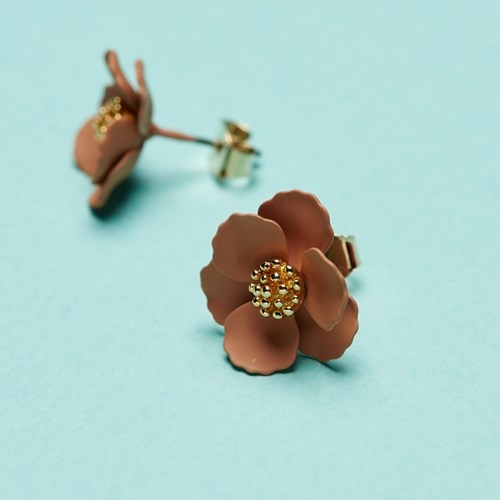 골드수술 꽃 귀걸이