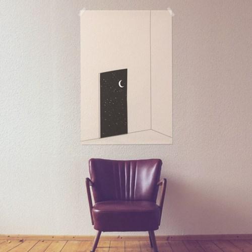 문열면 우주 패브릭 포스터