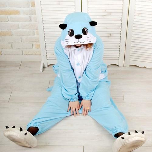 사계절 동물잠옷 수달 (블루)