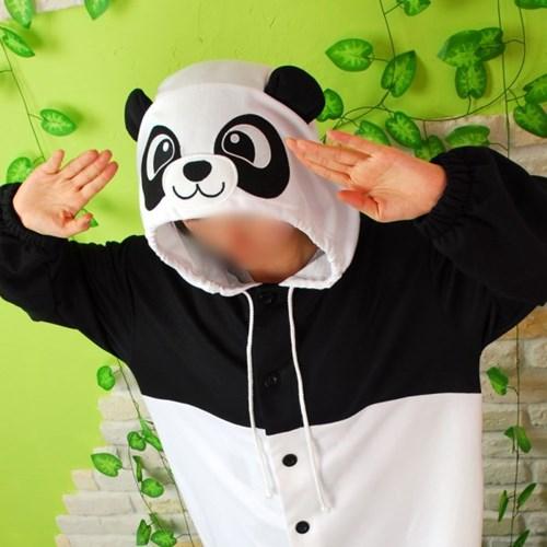 사계절 동물잠옷 팬더 (블랙)