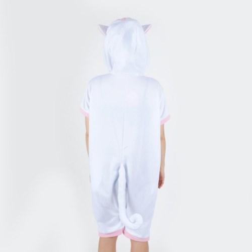 반팔 동물잠옷 고양이 (화이트)