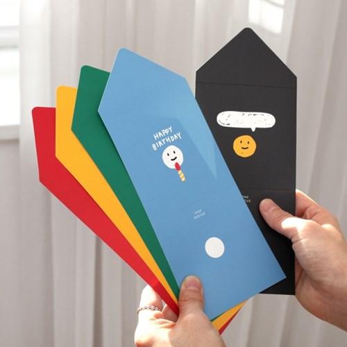 메세지 카드 세트 (5매)