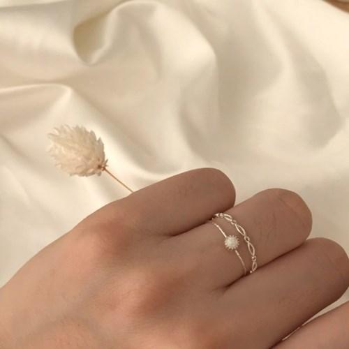 [925silver 원석 반지] 오팔링