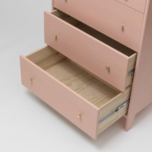 [밀크트리] 마시멜로 5단서랍장- 핑크/그레이