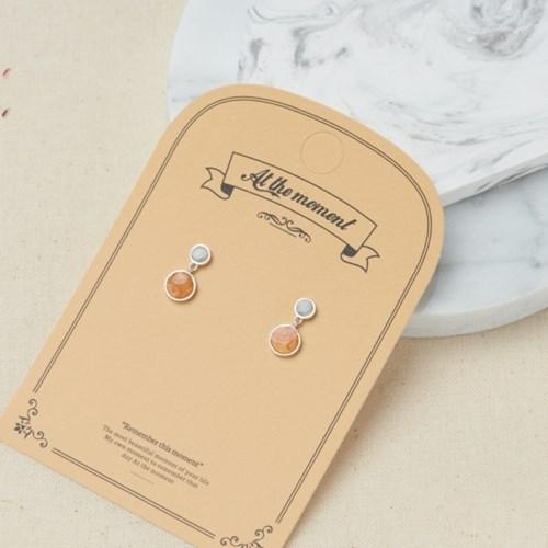 [925실버] 레인드롭 귀걸이
