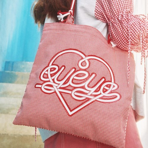 EYEYE CHECK STRING BAG_RED (EEON1BAY01W)
