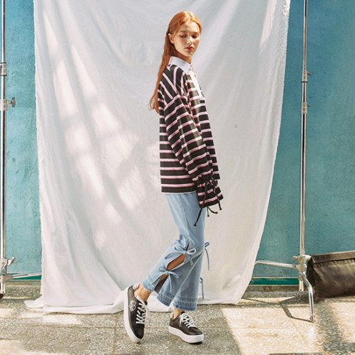 LACE UP IN CUTOUTS DEMIN STRAIGHT PANTS_BLUE (EEON1DPR01W)