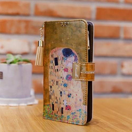 갤럭시S6 (G920) Encanto-Obra-T 지퍼 지퍼 지갑 다이어리 케이스