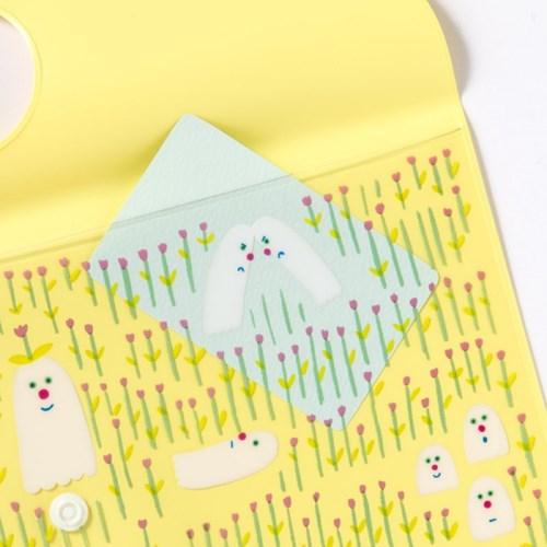 [AIUEO] Flat Case - hana obake (A6size)