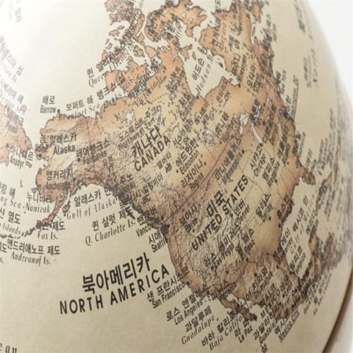 15cm 무한회전 지구본 안틱(한영판)