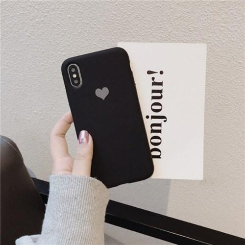 하트 실리콘 아이폰 케이스