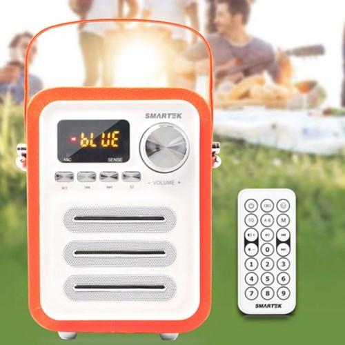 레트로 휴대용 라디오스피커(오렌지)