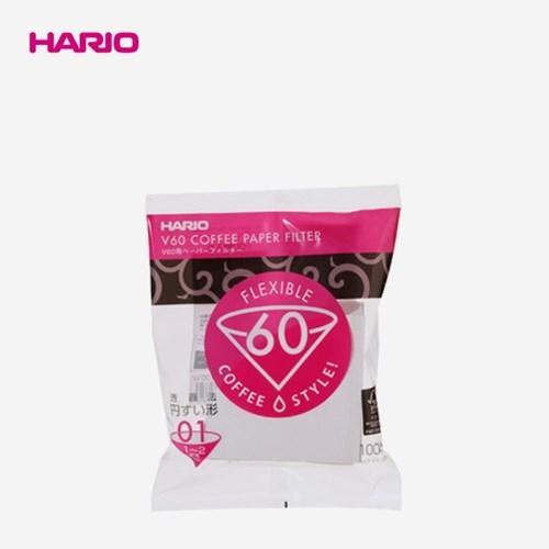 하리오 V60 종이커피필터 01 100매 화이트VCF-01-100W_(1326968)