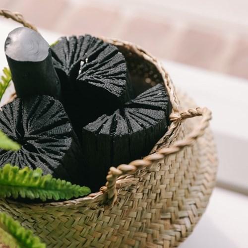 나만의 산림욕 숯 바구니(소)-공기정화, 미세먼지제거,_(100768754)
