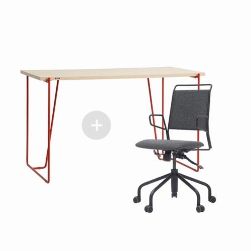 듀오백 바인츠 우드 테이블+라움체어 책상의자세트_(602706432)