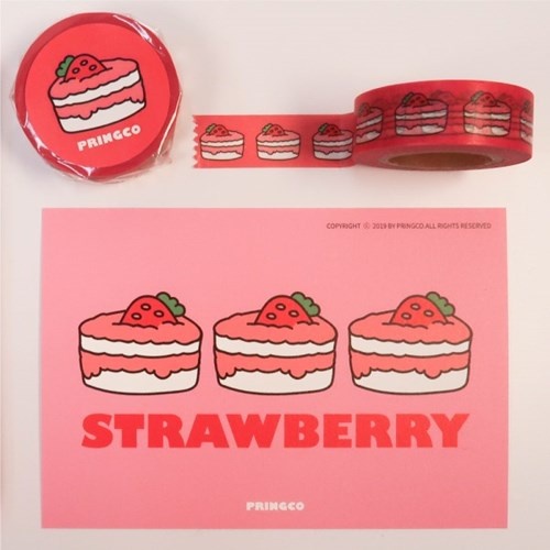 프링코 딸기 마스킹테이프