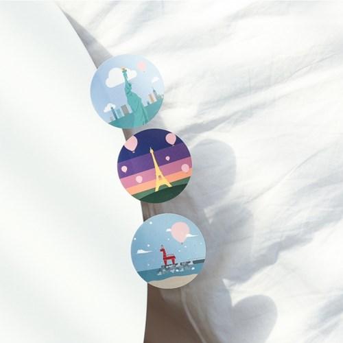 열기구여행 데코스티커 - 동글이