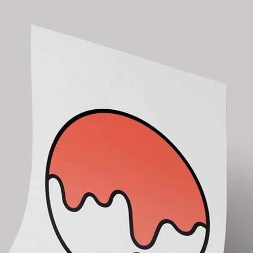 [A3 아트포스터] Signature Logo_ 리빙코랄(Living Coral)
