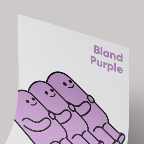[A3 아트포스터] BIG series_싱거운 퍼플(Bland Pruple)