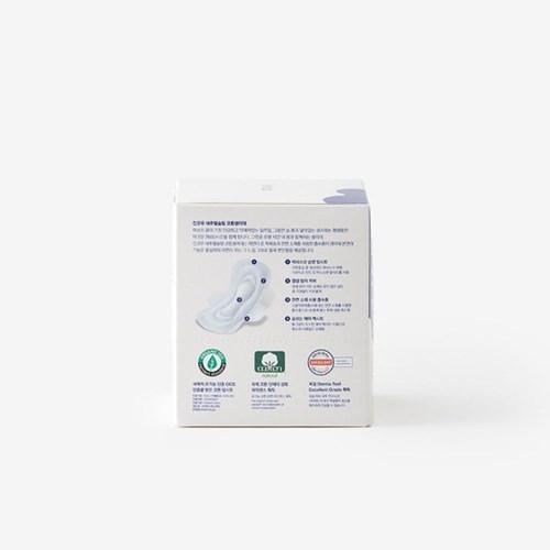 [킨코우] 내추럴슬림 유기농 코튼생리대 대형 1box (12개입)