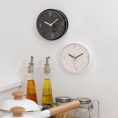 단순생활 방수 흡착 욕실시계