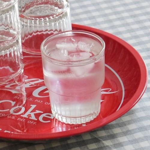 플리츠 글라스 카페 물컵 1p 플랫 화이트 잔