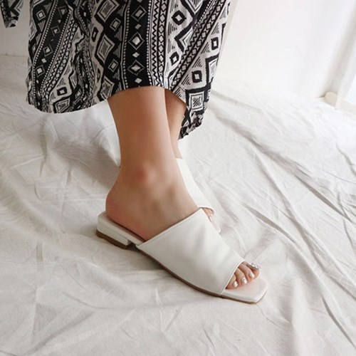 kami et muse Minimal style toe open slippers_KM19s139