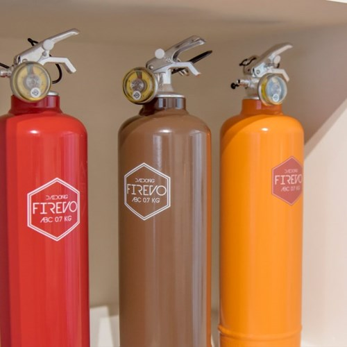 피레보(FIREVO) 디자인 소화기 레트로오렌지 컬러
