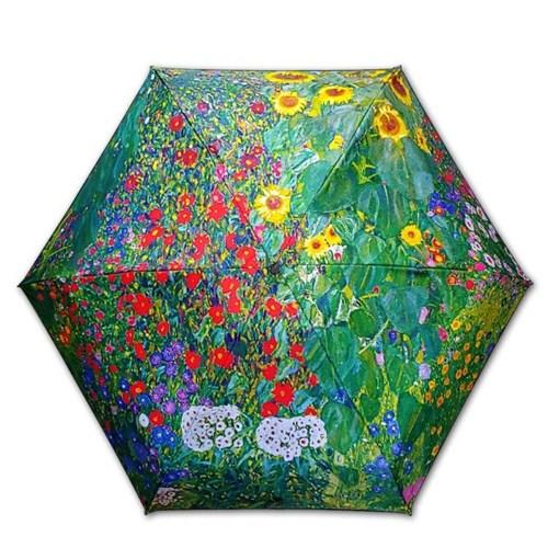 차광률99.9% 암막명화5단미니양산-클림트-해바라기가 있는 정원