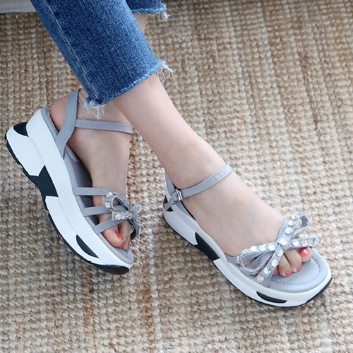 kami et muse Cubic ribbon platform sandals_KM19s164