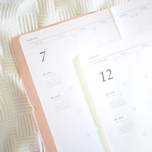 [날짜형7-12월]2019이야기다이어리 데일리(볼펜셋트)