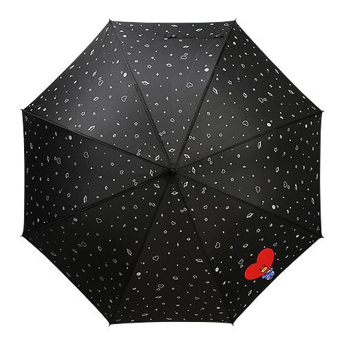 [BT21] 블랙 패턴 자동 장우산_(833884)