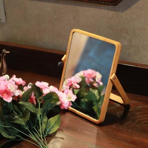 우드 탁상 책상 접이식 거울 화이트 마카 포함