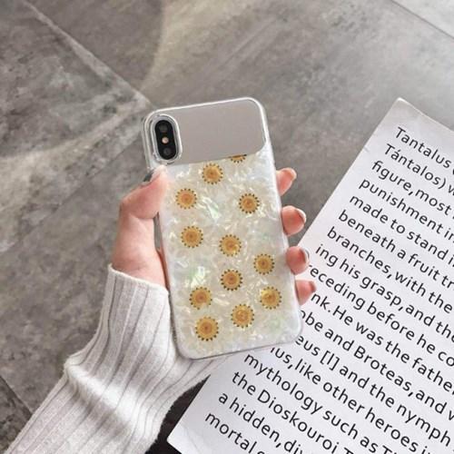 데이지꽃 자개 셀카 미러 아이폰 케이스