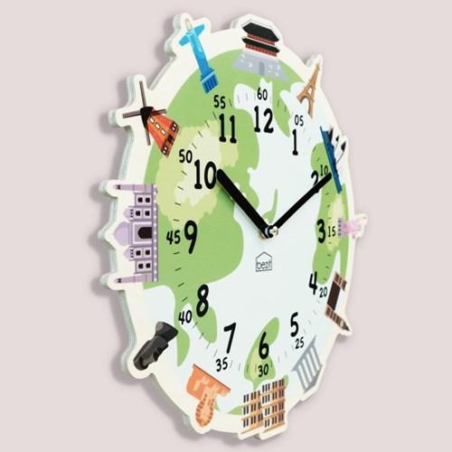 [BEZIT] 원더타임시리즈 세계의 랜드마크 무소음 벽시계