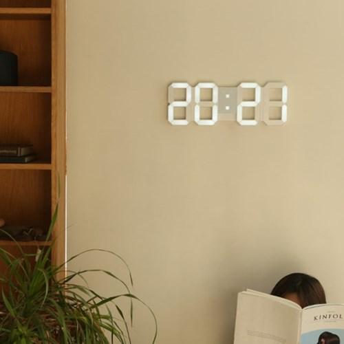 뉴버전 무소음 LED 대형 벽시계 리모컨형_(1179147)