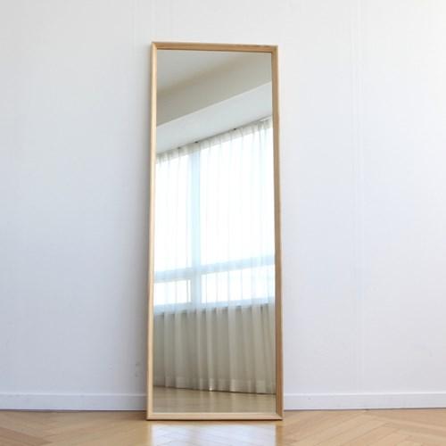 원목 사선프레임 대형 전신거울